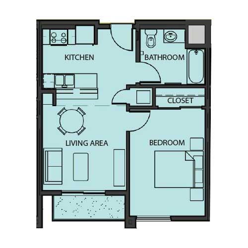 Unit 1A floor Plan