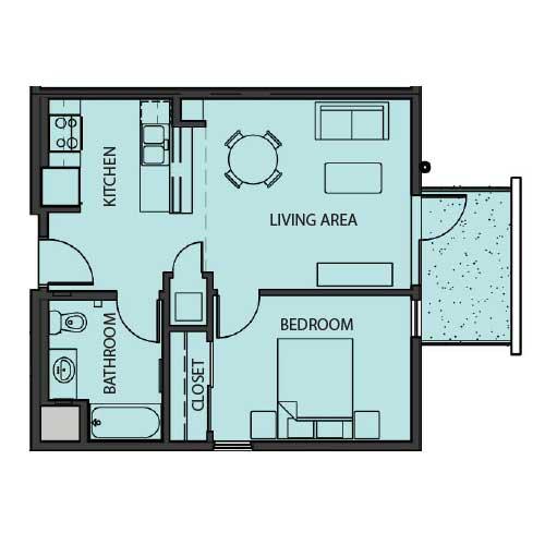 Unit 1C floor Plan