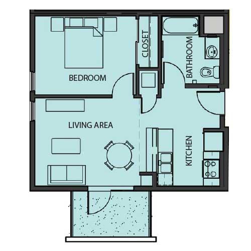 Unit 1D floor Plan