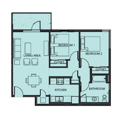 Unit 2A floor Plan