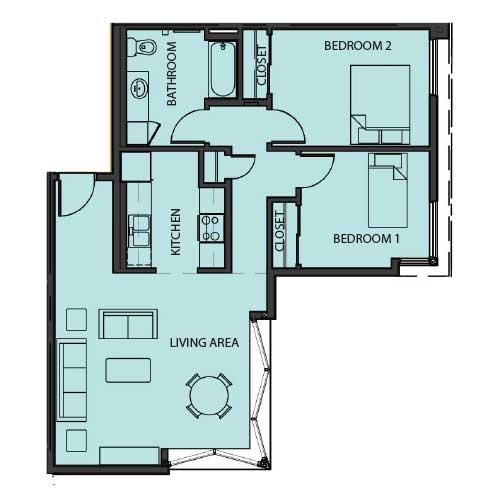 Unit 2B floor Plan