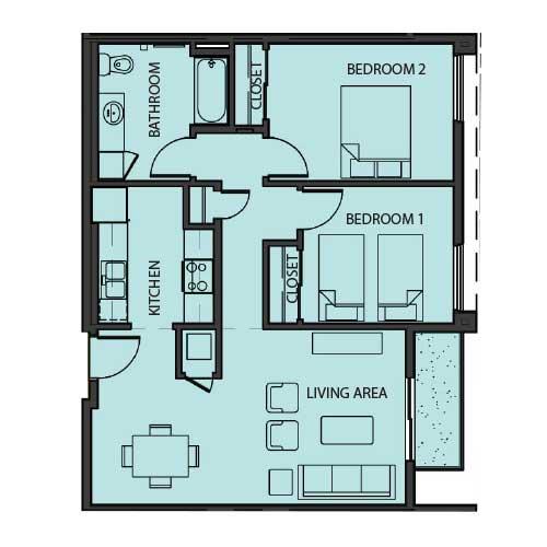 Unit 2C floor Plan