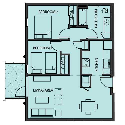 Unit 2D floor Plan