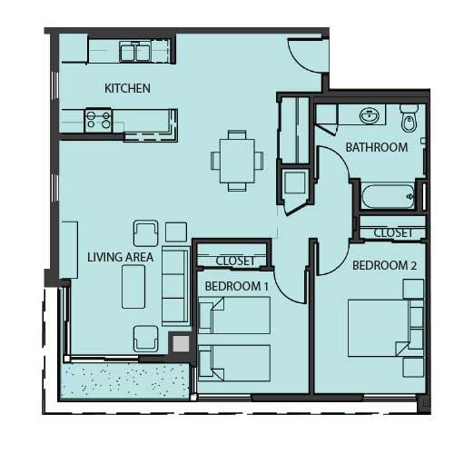 Unit 2E floor Plan