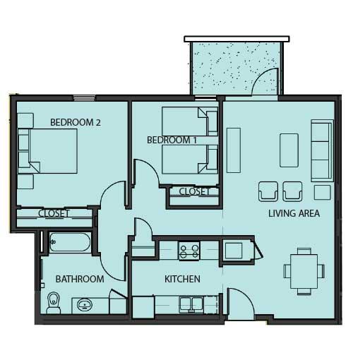 Unit 2F floor Plan