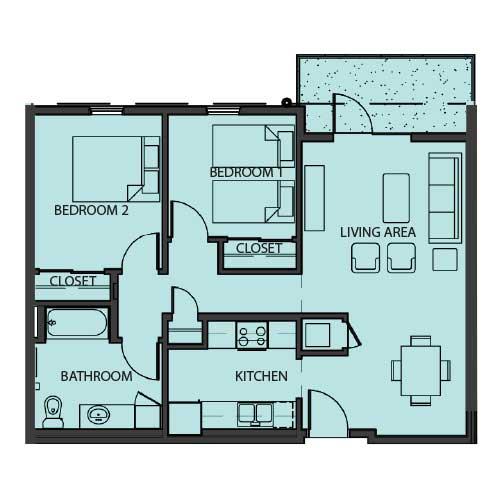 Unit 2G floor Plan